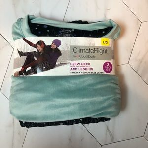 Cuddl Duds Climate Right 2 Piece Set, size Large